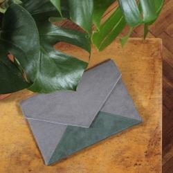 Clutch bag Letter grey green