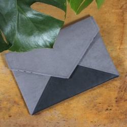Clutch bag Letter grey dark grey