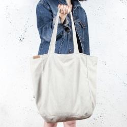 Lazy bag torba beżowa na zamek