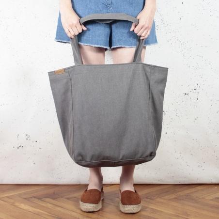 Lazy bag torba ciemnoszara na zamek