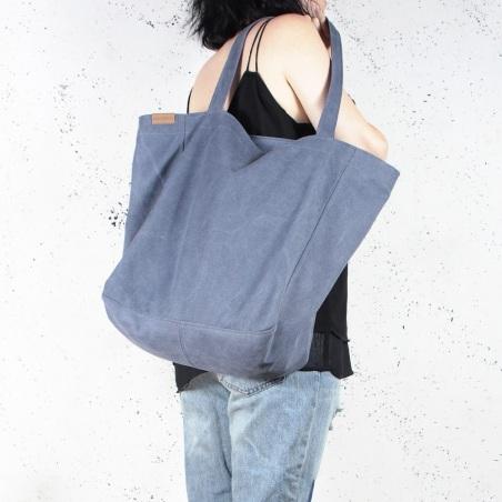 Lazy bag torba ciemnoniebieska na zamek
