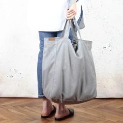 Lazy bag torba jasnoszara na zamek