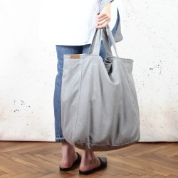 Lazy lightgrey shoulder bag with zipper
