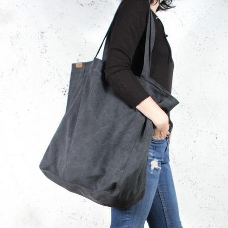 Big Lazy bag torba czarna na zamek