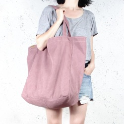 Big Lazy pink shoulder bag with zipper