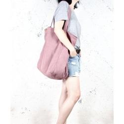 Big Lazy bag torba różowa na zamek