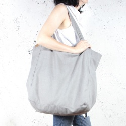 Big Lazy lightgrey shoulder bag with zipper