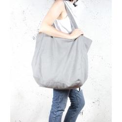Big Lazy bag torba jasnoszara na zamek