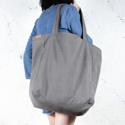 Big Lazy dark grey shoulder bag with zipper