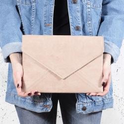 torebka kopertówka Letter beżowa