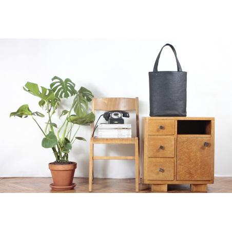 torba torebka shopper tote czarna teksturowana vegan ekoskóra