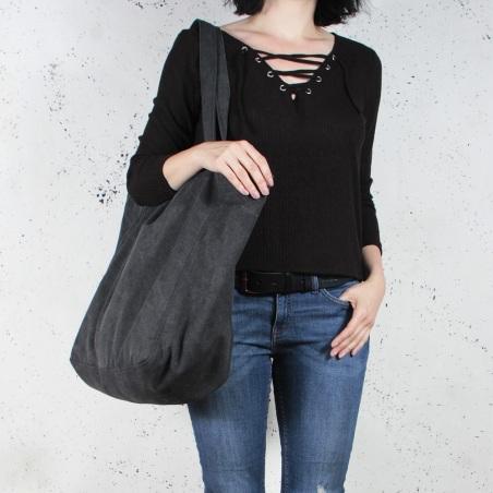 Lazy bag torba czarna na zamek