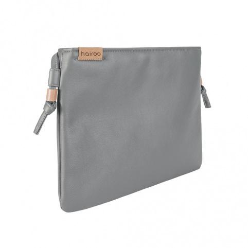 Nodo bag szara kopertówka z paskiem na ramię