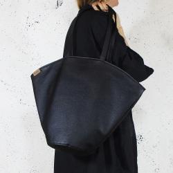 Shelly bag czarna torba na zamek