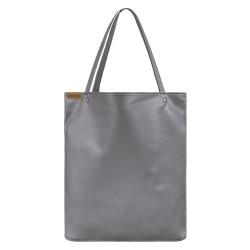 Shopper bag XL szary gładki  torba tote