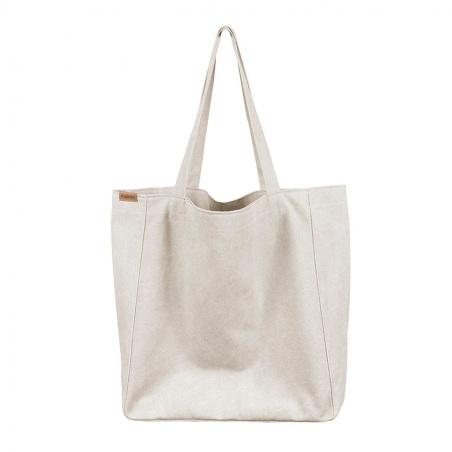 Big Lazy bag torba beżowa na zamek