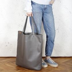 Mega Shopper Tragetasche Grau
