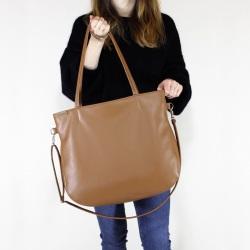 Pacco bag torebka ruda na zamek