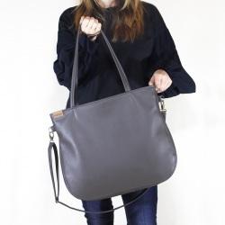 Pacco bag torebka szara na zamek