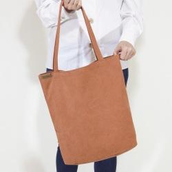 Shopper bag XL pomarańczowa torba z grubej bawełny