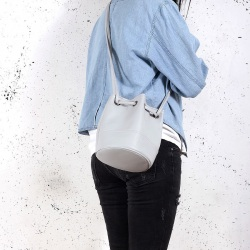 Saq bag light grey sakiewka